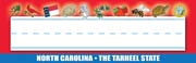 North Carolina Nameplates - Pack of 36