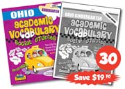 Ohio Kindergarten Academic Vocabulary Class Set, 30 Student Workbooks & 1 Teacher's Edition
