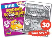 Ohio 5th Grade Academic Vocabulary Class Set, 30 Student Workbooks & 1 Teacher's Edition