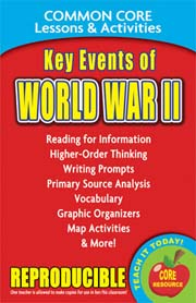 Key Events of World War II – Common Core Lessons & Activities