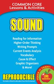 Sound – Common Core Lessons & Activities