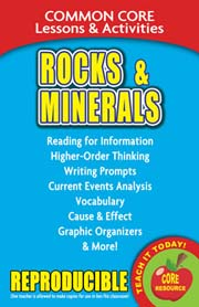 Rocks & Minerals – Common Core Lessons & Activities