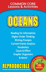 Oceans – Common Core Lessons & Activities