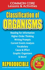 Classification of Organisms – Common Core Lessons & Activities