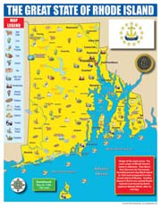 Rhode Island State Map for Students - Pack of 30
