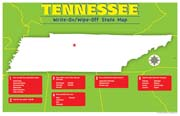 Tennessee Write-On/Wipe-Off Desk Mat - State Map