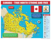 Canada Map for Students – Pack of 30