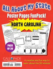 All About My State-North Carolina FunPack (Pack of 30)