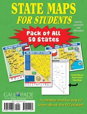 State Maps for Students-Pack of All 50 States