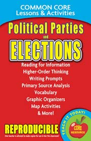 Political Parties & Elections - Common Core Lessons & Activities