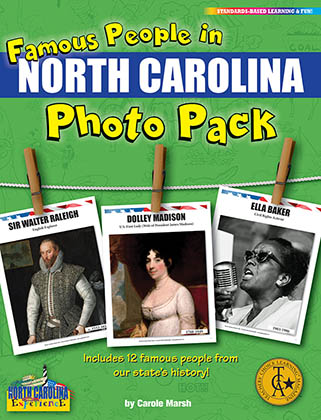 Famous People from North Carolina Photo Pack
