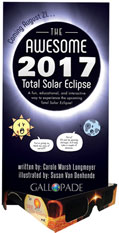 The Awesome 2017 Total Solar Eclipse FunSheet - Trifold with 1 Pair of Solar Eclipse Glasses