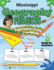 Mississippi Geography Projects - 30 Cool Activities, Crafts, Experiments & More for Kids to Do to Learn About Your State!