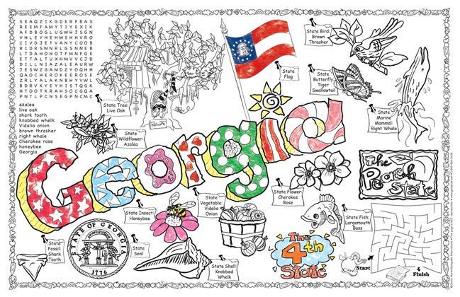georgia state symbols coloring pages - photo#31