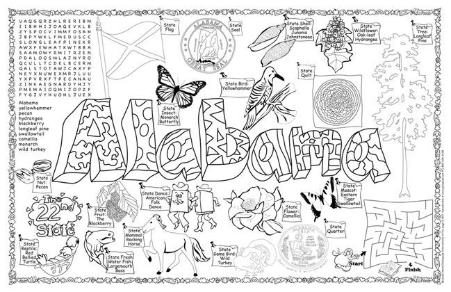 Alabama Symbols & Facts FunSheet – Pack of 30