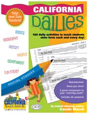 California Dailies: 180 Daily Activities for Kids