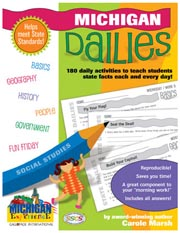 Michigan Dailies: 180 Daily Activities for Kids