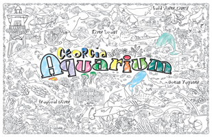 Gallopade International: Georgia Aquarium Giant Coloring Poster ...