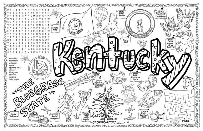 Gallopade International Kentucky Symbols Amp Facts Funsheet