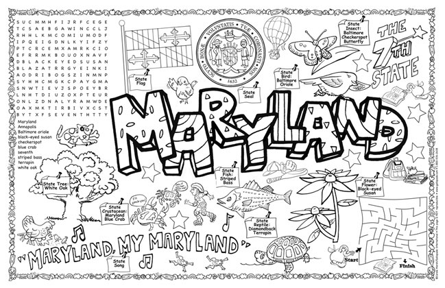 maryland coloring pages - photo#20