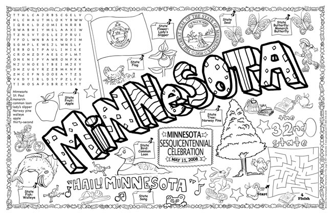 Gallopade International Minnesota Symbols Facts FunSheet Pack