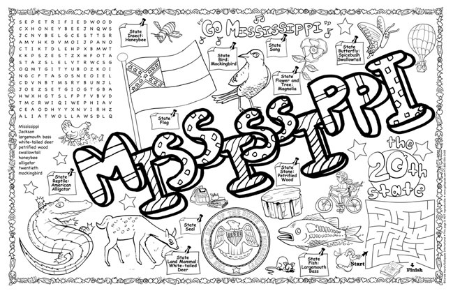 Gallopade international mississippi symbols facts for New mexico state symbols coloring pages