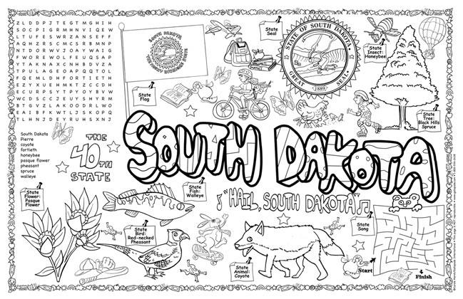 south dakota symbols facts funsheet pack of 30