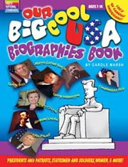 Our Big Cool USA Biographies Book