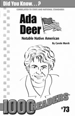 Ada Deer: Notable Native American Consumable Pack 30