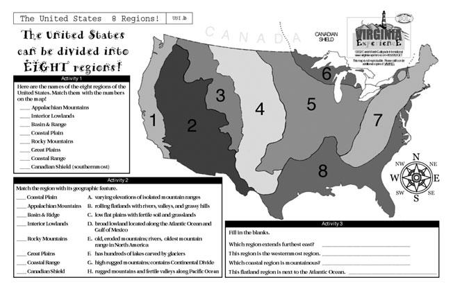 Gallopade International Virginia United States' 8 Regions: 8 Regions Of The United States Map At Codeve.org