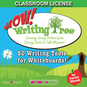 WOW Writing with the Writing Tree!: 50 Writing Tools for Whiteboards Classroom License