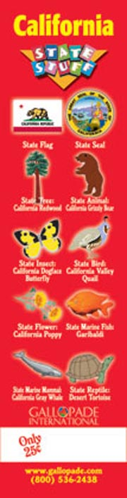 California Symbols Bookmark