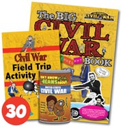 Civil War Field Trip Activity Book Set of 30, 1 Civil War Big Book Plus Don't Know Beans About... United States Civil War game