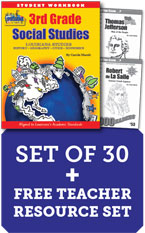 Louisiana Experience 3rd Grade Class Set with Print Biography Readers -1-year License