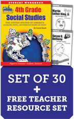 Louisiana 4th Grade Class Set with Add-On Print Biography Readers