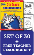 Louisiana 5th Grade Class Set with Add-On Print Biography Readers