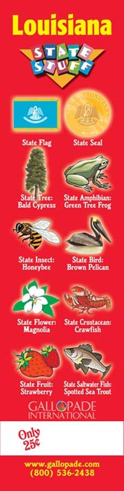 Louisiana Symbols Bookmark