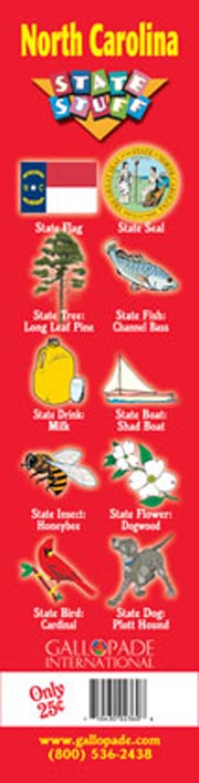 North Carolina Symbols Bookmark