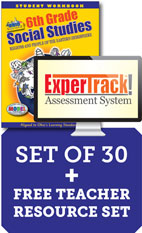 Ohio Experience 6th Grade Teach, Test, Track Set - 1 year