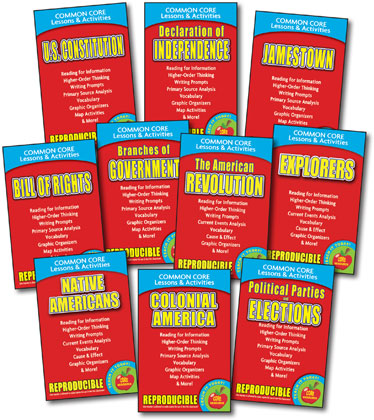 Common Core Lessons & Activities - Forming a Nation - Set of 10