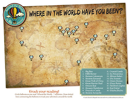Track the locations of Around The World!