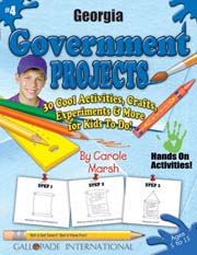 Georgia Government Projects - 30 Cool Activities, Crafts, Experiments & More for Kids to Do to Learn About Your State!