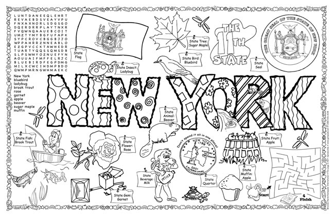 New York Symbols & Facts FunSheet – Pack of 30