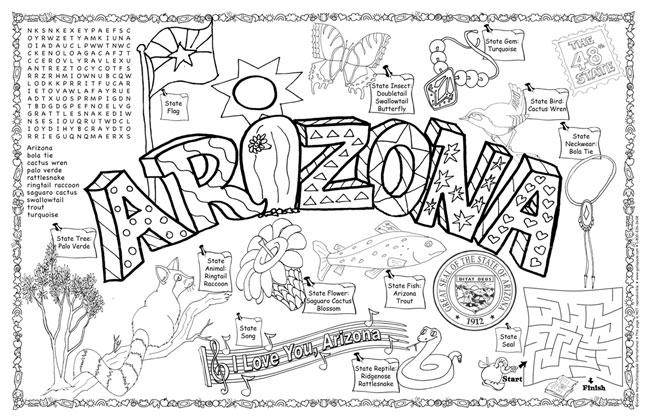 Arizona Symbols Facts Funsheet Pack Of 30