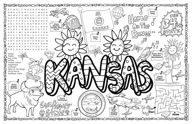 Kansas state symbols coloring pages murderthestout for Kansas state symbols coloring pages