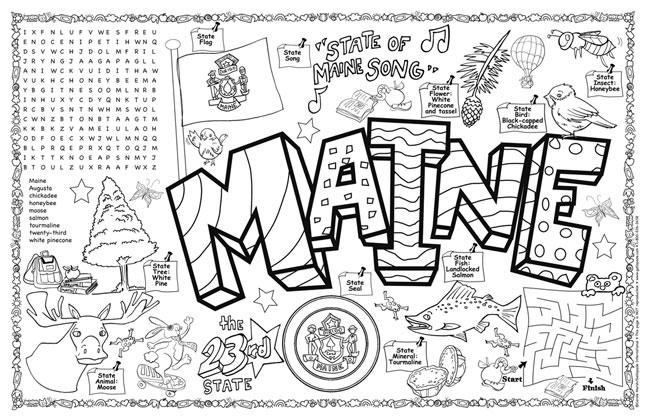 Maine Symbols & Facts FunSheet – Pack of 30