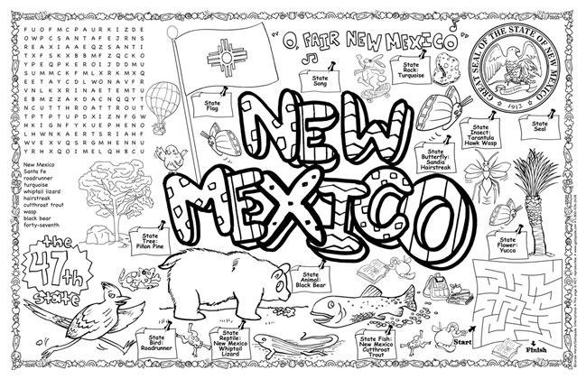 New mexico state coloring pages murderthestout for New mexico state flag coloring page