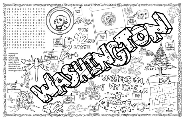 Washington State Symbols Coloring Pages Coloring Page