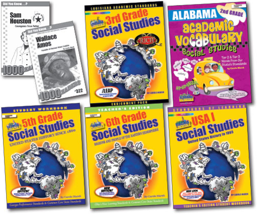 Social Studies Curriculum for Georgia, Virginia, Ohio, Alabama and Texas