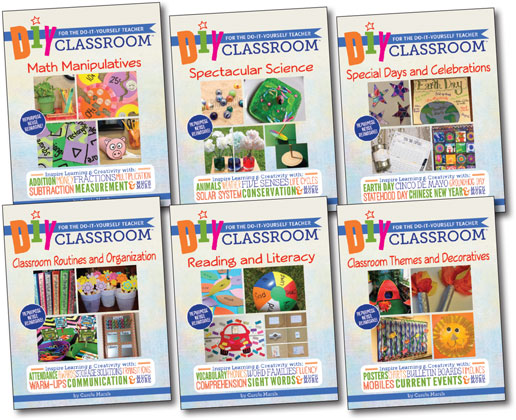 DIY Classroom is a six-book series of smart, teacher-tested ideas, templates and lesson plans for the classroom. Each book is full of creative, inexpensive (or free!) ways to teach, decorate and celebrate.